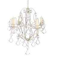 Baroque Chandelier Ivory Metal Candle Holder