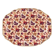 Far East Jaipur Cream Ceramic Serving Platter