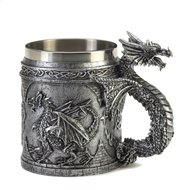 Serpentine Dragon Mug w/Stainless Steel Lining