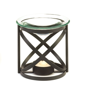 Orbital Black Metal & Glass Fragrance Oil Warmer