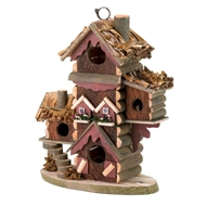 Gingerbread Style Brown Wood Birdhouse