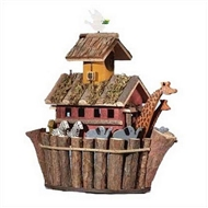Noah's Ark Brown Wood Birdhouse