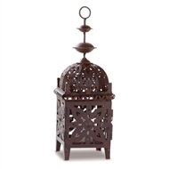 Moroccan Style Brown Metal Candle Lantern