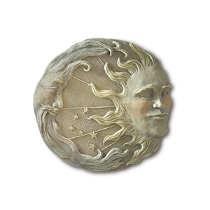 Celestial Moon and Sun Wall Plaque