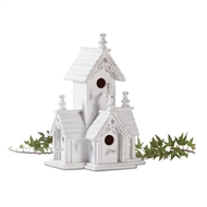 Victorian White Wood Birdhouse