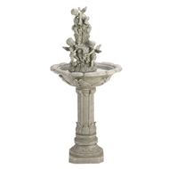 "Playful Cherubs Electric Water Fountain 42"" Tall"