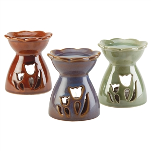 3PC Tulip Themed Fragrance Oil Warmers