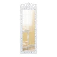 Elegant White Wood-framed Wall Mirror