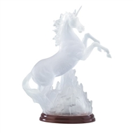 Frosted Unicorn Light-Up Figurine