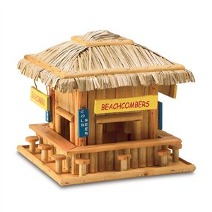 Beachcombers Hangout Brown Wood Birdhouse