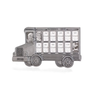 School Bus K-12 Pewter-finish Photo Frame