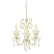 Ivory Scrollwork Taper Candle Chandelier