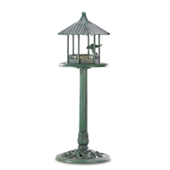Verdigris Green Gazebo Standing Bird Feeder