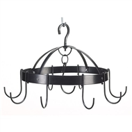 Mini Round Black Metal Pot Rack