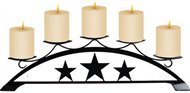 Star Tabletop Centerpiece Black Metal Candle Holder