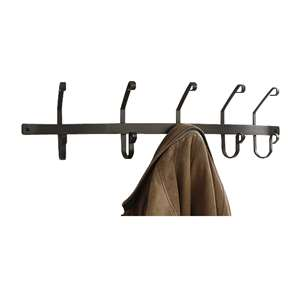 Black Metal Coat Bar with 5 hooks