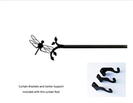 Dragonfly Curtain Rod - 36 In. to 60 In. MED (Hardware is INCLUDED)