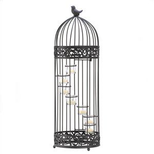 Birdcage w/Spiral Staircase Candle Holder