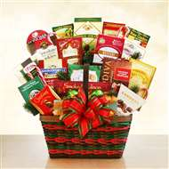 Season's Greetings Merrymaker Gift Basket Deluxe