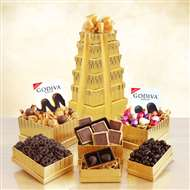 Ultimate Golden Godiva Chocolate Gift Tower
