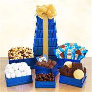 Kosher Sweets Blue Gift Tower