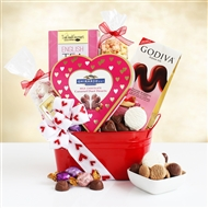 Valentine's Gourmet and Goodies Day Gift Basket