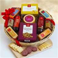 Savory Meat and Cheese Gift Basket