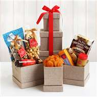 Hickory Farms Sweet Savory Holiday Snacks Tower