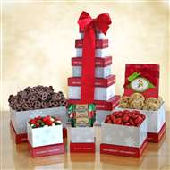 Winter Wonderland Holiday Treats Gift Tower