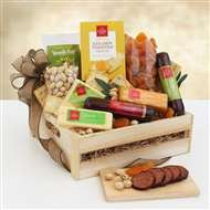 Meat  Cheese Wooden Gift Crate
