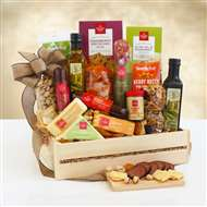 Ultimate Meat Cheese Wooden Gift Crate