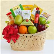 Holiday Fruit Greetings Gift Basket