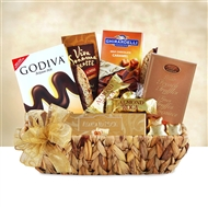 Golden Chocolate Sampler Gift Basket