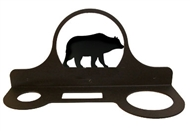 Bear Black Metal Hair Dryer Rack