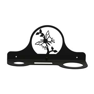 Butterfly Black Metal Hair Dryer Rack