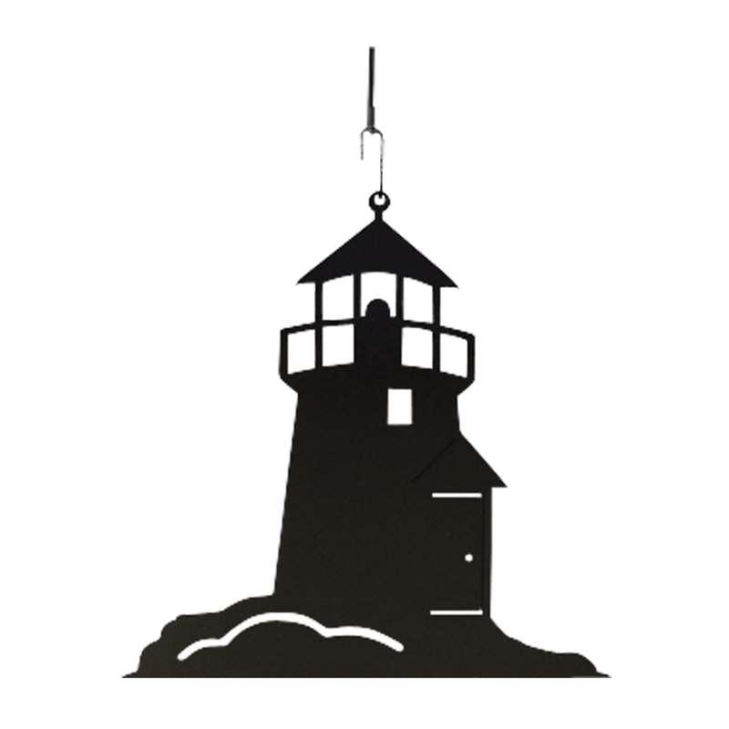 lighthouse black metal hanging silhouette