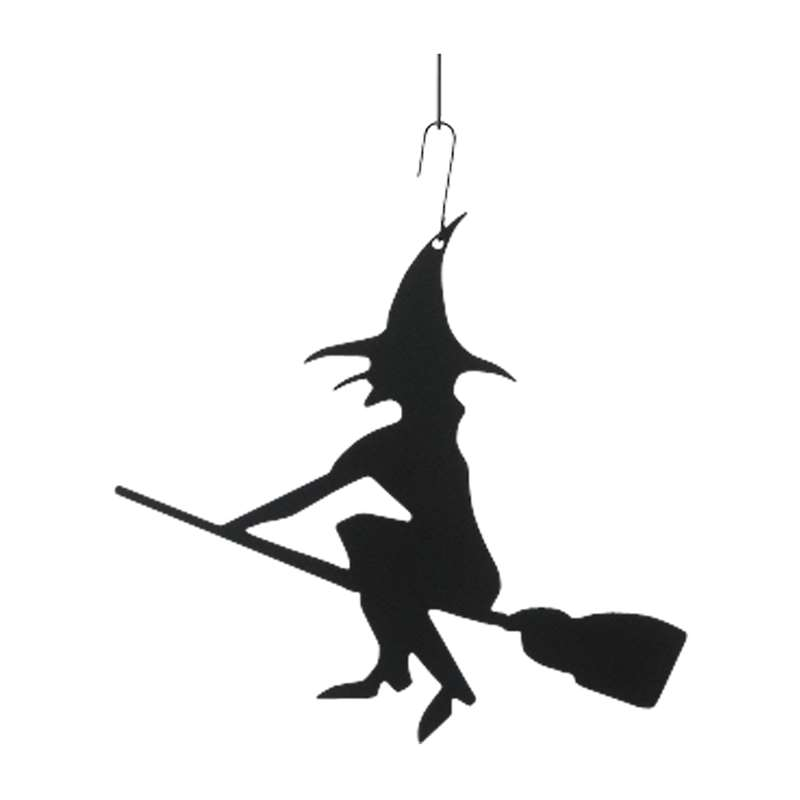 witch black metal hanging silhouette