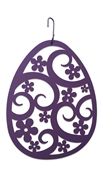 Easter Egg Lavender/Purple Metal Hanging Silhouette