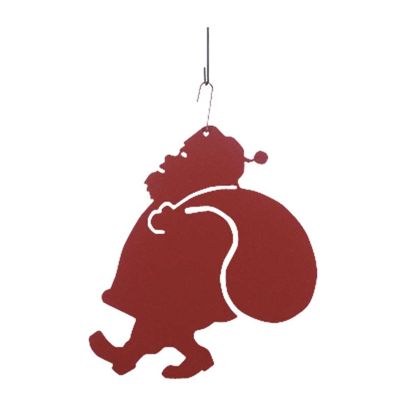santa black metal hanging silhouette red
