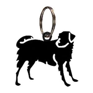 Black Metal Key Ring: Dog
