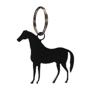 Black Metal Key Ring: Horse