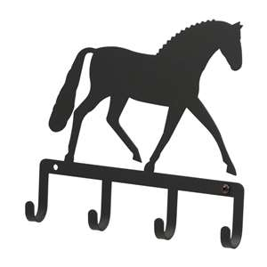 Black Metal Key Ring Holder: Dressage