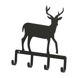 Black Metal Key Ring Holder: Deer