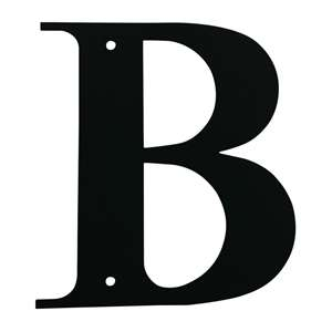Black Metal Letter: B Medium