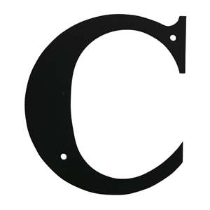 Black Metal Letter: C Medium