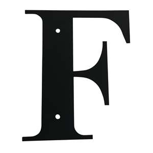 Black Metal Letter: F Large