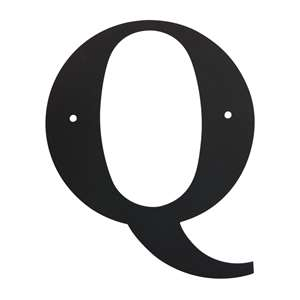 Black Metal Letter: Q Small