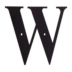 Black Metal Letter: W Small