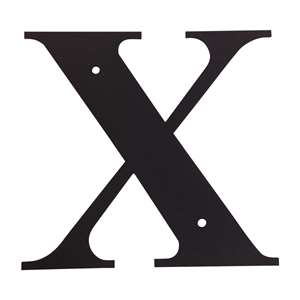 Black Metal Letter: X Small