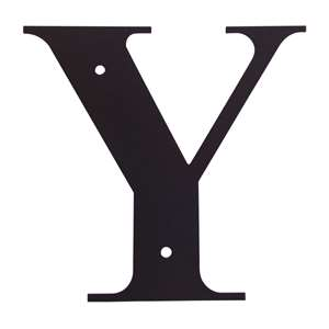 Black Metal Letter: Y Small